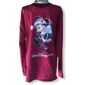 Walt Disney World Christmas Santa Mickey Unisex M